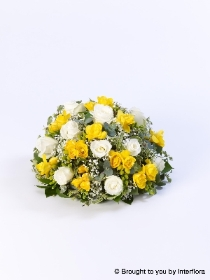 Rose & Freesia Posy   Yellow & White