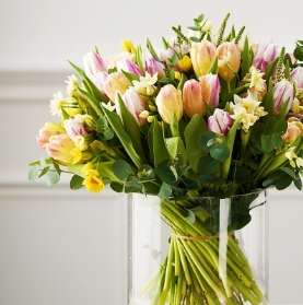 Spring Florist's Choice Bouquet in Vase