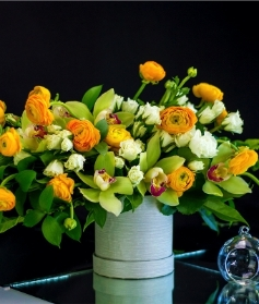 Florist's Choice Hatbox Arrangement