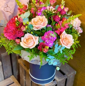 Florist's Choice Hatbox Bouquet